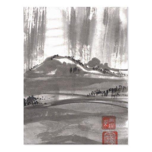 Postal china del paisaje de Dreamscape de la monta