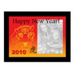 postal china del photocard del Año Nuevo
