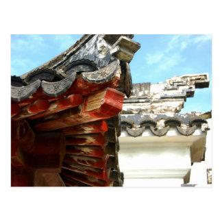 Postal china del tejado