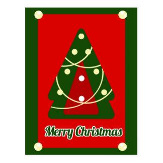 Postal Christmas tree Postcard