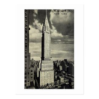 Postal, Chrysler que construye, New York City Tarjetas Postales