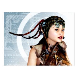 Postal cibernética del arte del Grunge 3d