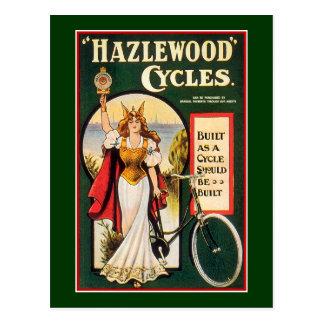 Postal:  Ciclos de Hazlewood - bicicleta del vinta