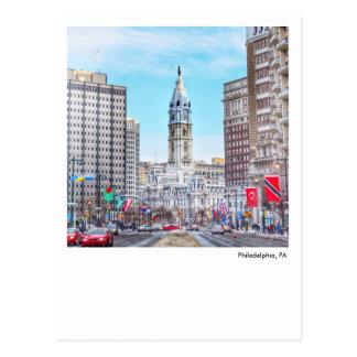 Postal-Ciudad Pasillo de Philadelphia Tarjetas Postales