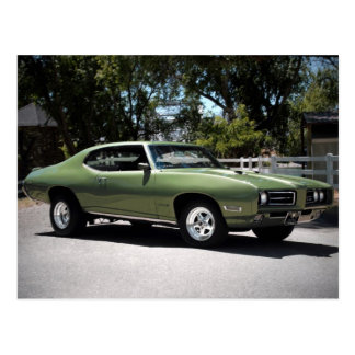 Postal clásica 1969 del coche del músculo de Ponti