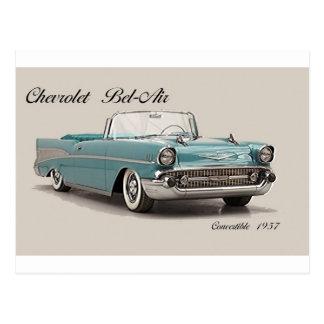 Postal clásica de los coches