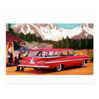 Postal clásica del automóvil