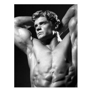 Postal clásica del Bodybuilder