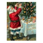 Postal clásica del navidad de Santa del americano