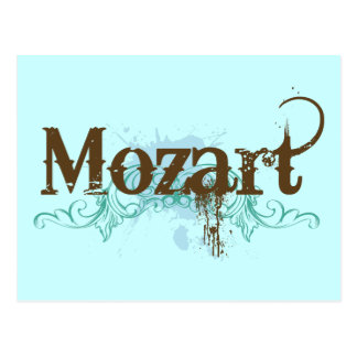 Postal clásica fresca de Mozart