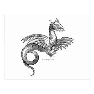 Postal coa alas del dragón o del Wyvern