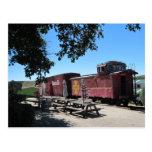Postal: Coches de tren de Santa Fe en el empalme d Postal
