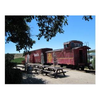 Postal: Coches de tren de Santa Fe en el empalme d