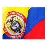 Postal colombiana de la bandera
