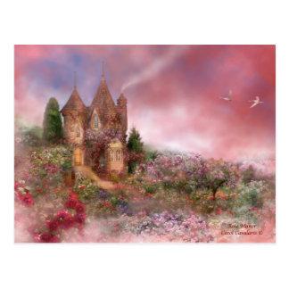 Postal color de rosa del señorío