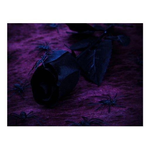 Postal color de rosa negra