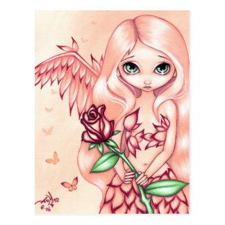 """Postal """"color de rosa"""" pálida"""