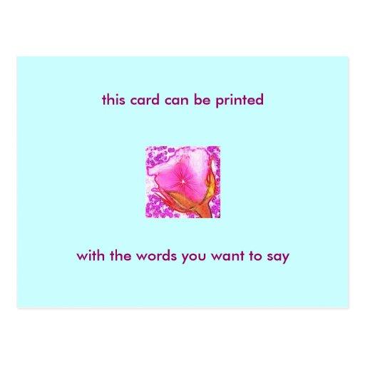 Postal color de rosa romántica - con sus propias p
