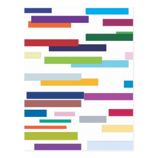 Postal coloreada de las rayas