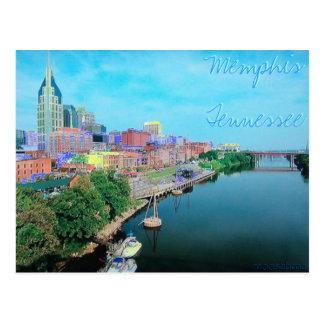 Postal coloreada Tennessee de Memphis