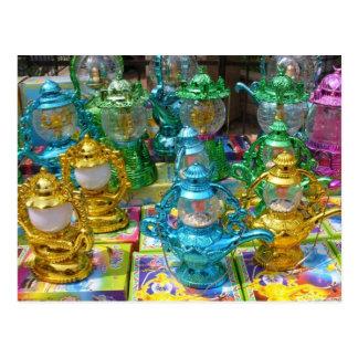 Postal colorida de la linterna del Ramadán