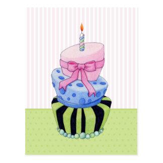 Postal colorida de la torta
