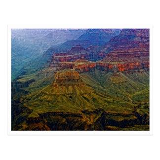 Postal colorida de las colinas del Gran Cañón