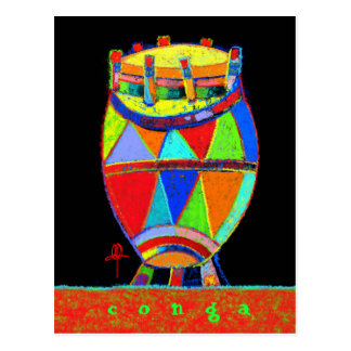 Postal colorida del Conga