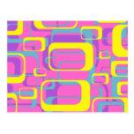 Postal colorida del diseño del extracto de los rec