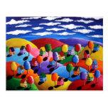Postal colorida del paisaje