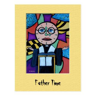 Postal colorida del tiempo del padre