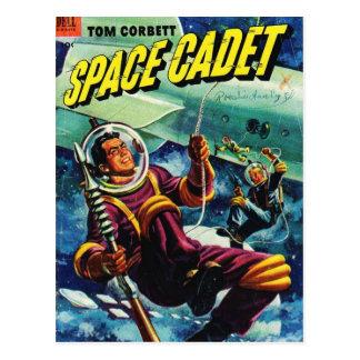 Postal cómica de la pulpa del cadete del espacio