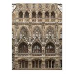 Postal con arquitectura gótica del renacimiento
