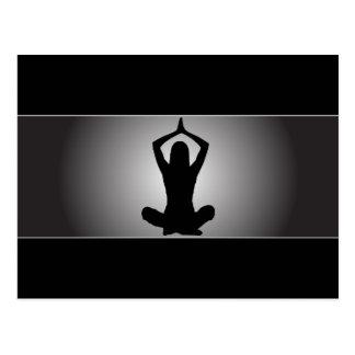 Postal con clase de la yoga