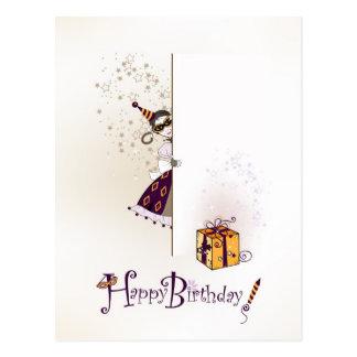 Postal con diseño del feliz cumpleaños
