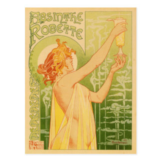 Postal con el Anuncio-Poster del vintage