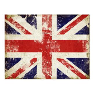 Postal con la bandera apenada de Gran Bretaña