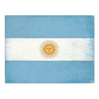 Postal con la bandera apenada de la Argentina