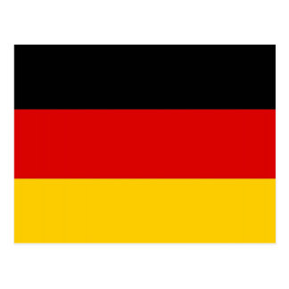 Postal con la bandera de Alemania