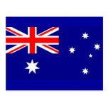 Postal con la bandera de Australia