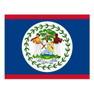 Postal con la bandera de Belice