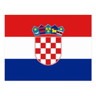 Postal con la bandera de Croacia