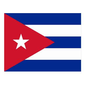 Postal con la bandera de Cuba