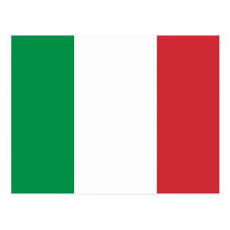 Postal con la bandera de Italia