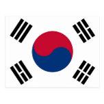 Postal con la bandera de la Corea del Sur