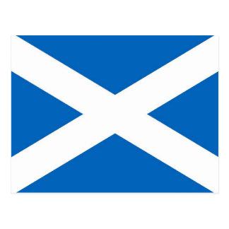 Postal con la bandera de la Escocia