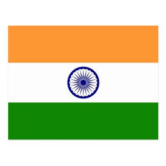 Postal con la bandera de la India
