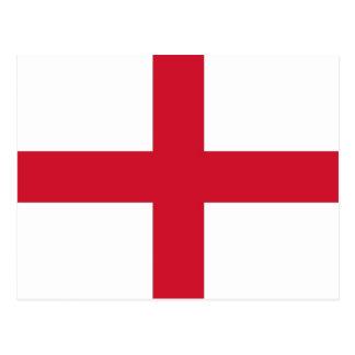 Postal con la bandera de la Inglaterra