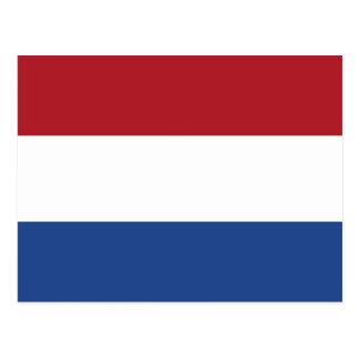 Postal con la bandera de Países Bajos