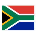 Postal con la bandera de Suráfrica
